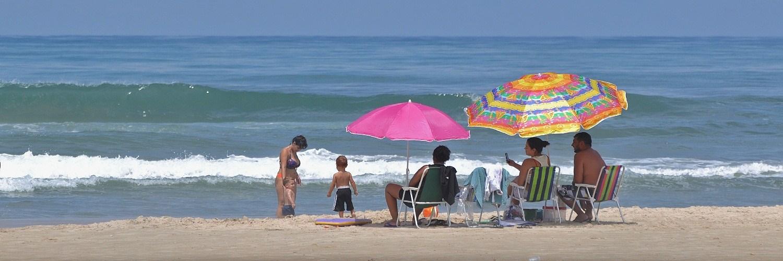 familia praia